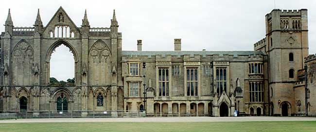 The West Front of Newstead Abbey.