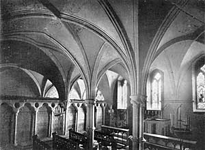 The Chapter House was converted into a chapel by the Byrons.