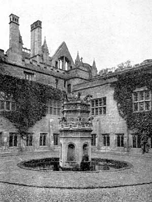 PLATE IV. Cloister Court, Newstead Priory.