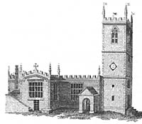 St Nicholas' church in the mid-18th century.
