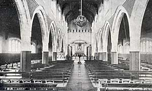 The interior of St Stephen's, Hyson Green.