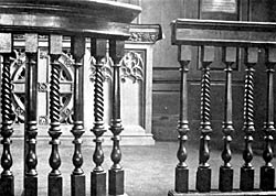 Fig. 8. Detail of the altar rails and altar datable to 1752.
