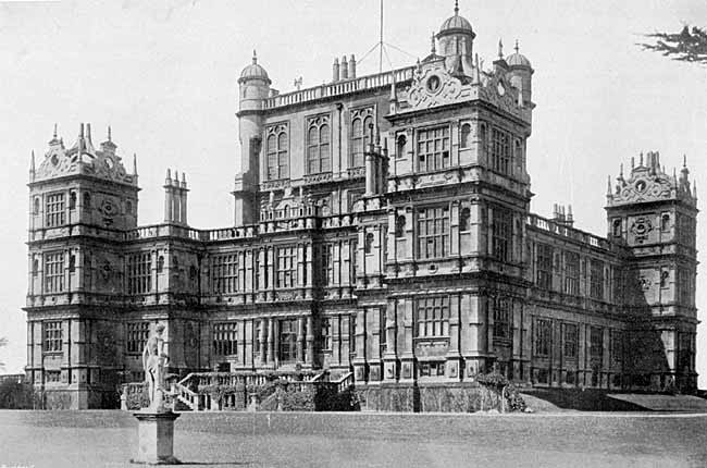 WOLLATON HALL Built in the year of the Spanish Armada (1588). Purchased with the Park of 744 acres, by the Nottingham Corporation in 1925.