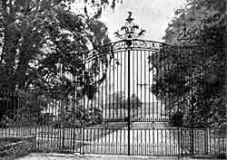 Entrance gates, Watnall Hall.