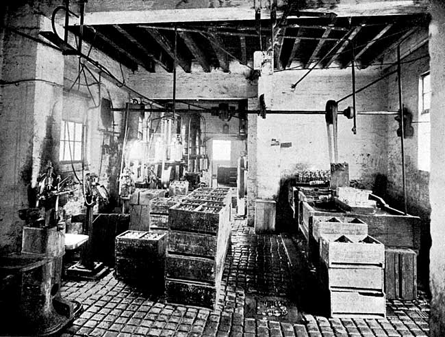 Interior of Factory—Bottling and Washing Department.