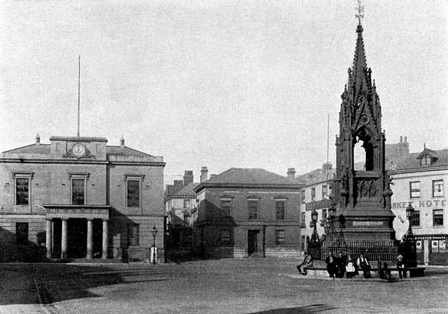Town Hall and Market Cross.