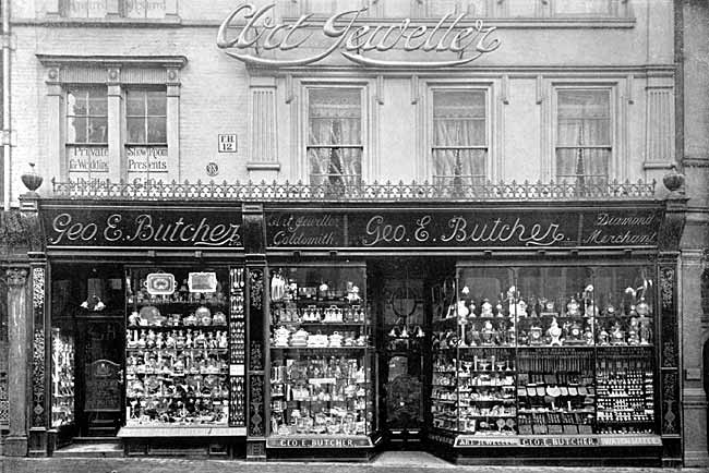 George Butcher's shop frontage