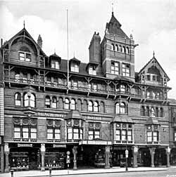 The Black Boy Hotel in the 1930s. This Nottingham landmark was demolished amidst much public oppposition and replaced with a dull store in the 1960s.
