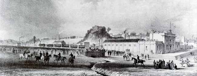 The first train leaves Nottingham for Derby, 30th May 1839.