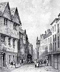 Bridlesmith Gate in the mid-19th century.