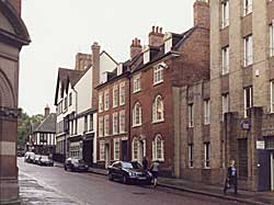 Early Georgian and modern buildings on Castle Gate (A Nicholson, 2001).