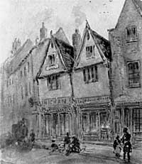 Higham's shop, Bridlesmith Gate in the late 19th century.