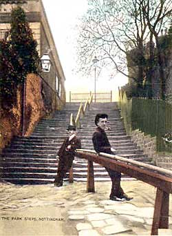 Park Steps in the early 1900s.