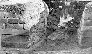 The old town wall cut through at the top of Market Street in 1866.