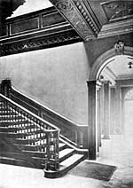 Bromley House. Staircase and hall.