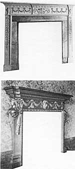 Chimney-piece, 12 High Pavement; chimney-piece, from Plumptre House (now in Bulwell Hall).