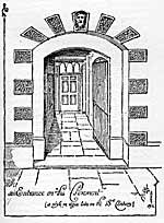 "An entrance on ""The Pavement"" (a style in vogue late in the 18th century)."