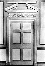 Internal door, 64 St James' Street.