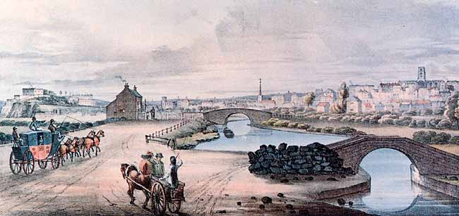 Nottingham from London Road, c.1808.