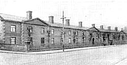 Burton Almshouses in the 1920s. They were demolished in the 1950s.