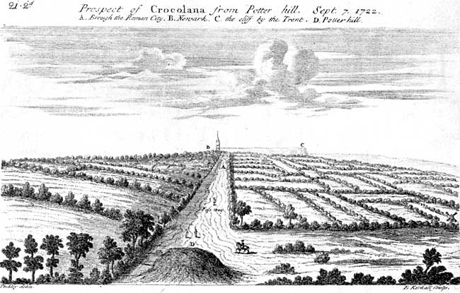 CROCOLANA, from the drawing by Dr. Wm. Stukeley, 1722.