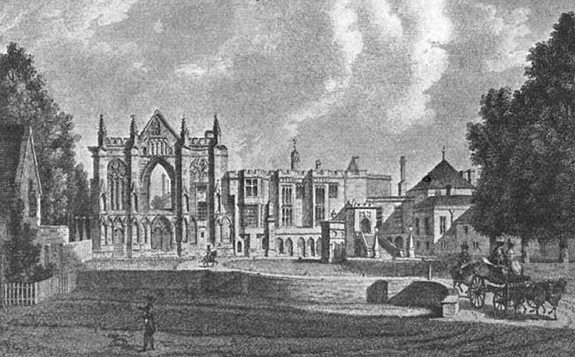 Newstead Abbey, an Engraving from the Drawing by Paul Sandby.