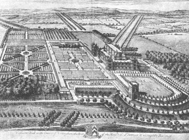 Wollaton Hall from the drawing by Leonard Knyf, engraved by Kip.