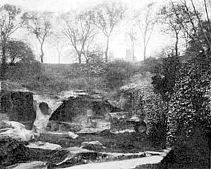 Caves in Rock Cemetery, Nottingham