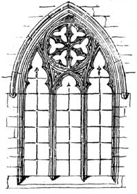 Window in south aisle, Orston.