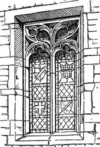 Square-headed window, Nuthall.