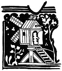 Fig. 1. Post mill from the monumental brass to Adam de Walsokne and his wife in St. Margaret's, King's Lynn, 1349).