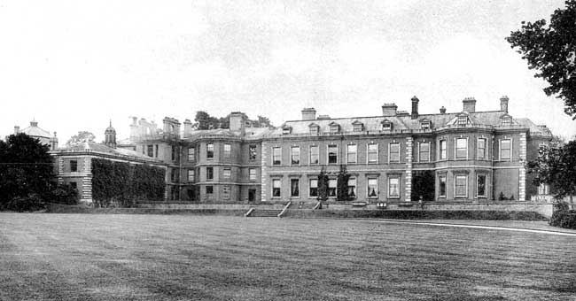 The north front of Osberton Hall in 1900.