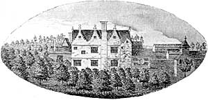 Ossington Hall in 1676.