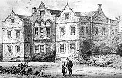 Owthorpe Hall in the mid-19th century.