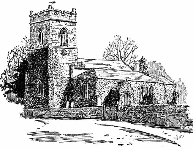 Oxton church from the south west.
