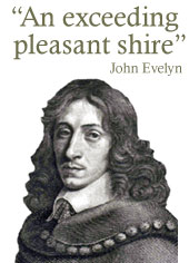 """An exceeding pleasant shire"" - John Evelyn portrait"