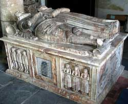 Tomb of Henry Sacheverell, died 1558 (photo by A Nicholson, 2006).
