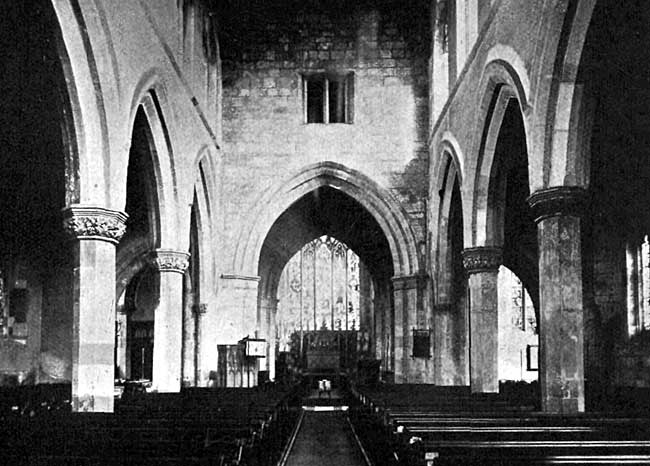 East Reford church – the nave
