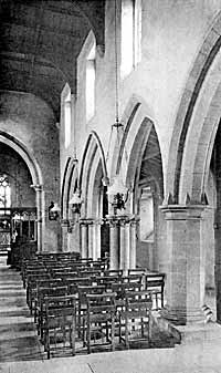 Rolleston Church. Interior looking East.