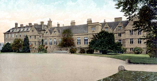 The west front of Rufford Abbey, c.1905.