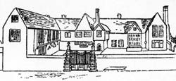 Kirketon Hall from a sketch made in the 1890s, over 60 years after its demolition.