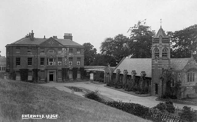 Sherwood Lodge and Chapel, c1910