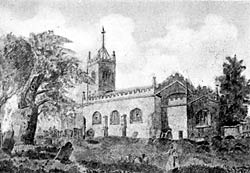 St. Stephen's church, Sneinton before its restoration in 1838.