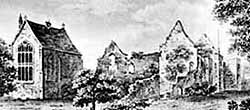 The Bishop's Palace in the early 19th century