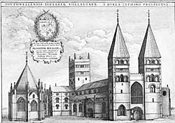 Southwell Minster in the 1670s.