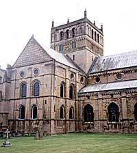 The central tower of Southwell Minster