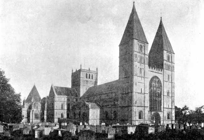 Southwell Cathedral from North-West.