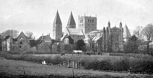 Southwell Cathedral from south-east.