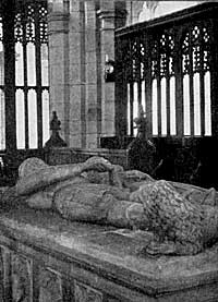 Tomb of Sir Sampson de Strelley and his wife. Strelley Church.