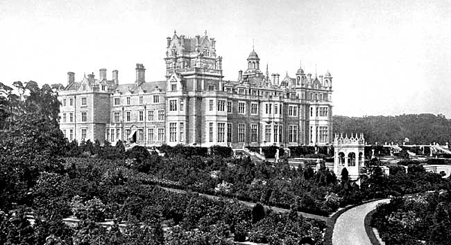 The south front of Thoresby Hall, c.1900.